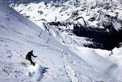 kitzsteinhorn glacier powder